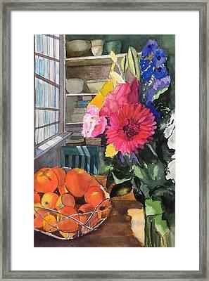 Oak Bluffs Kitchen Framed Print