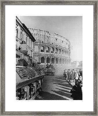 Occupation Of Rome Framed Print by Hulton Archive