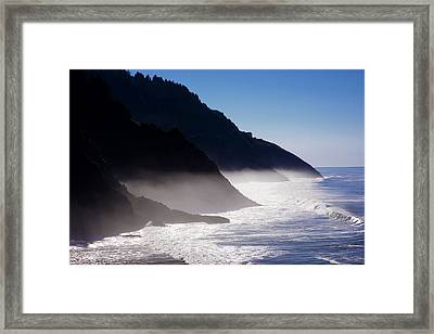 Framed Print featuring the photograph Ocean Beach Siuslaw National Forest Oregon by Rospotte Photography