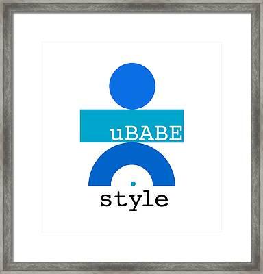 Ocean Blue Babe Framed Print