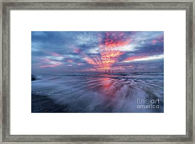 Ocean City Lights Framed Print