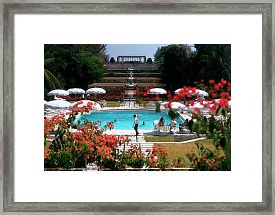 Ocean Club Framed Print by Slim Aarons