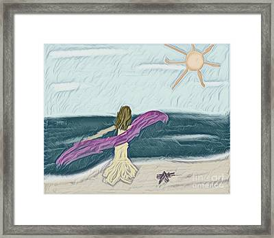 Ocean Dance Framed Print