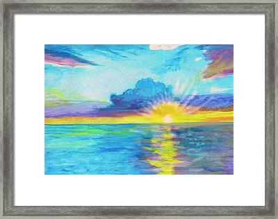 Ocean In The Morning Framed Print