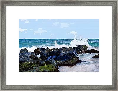 Ocean Meets The Coast Framed Print