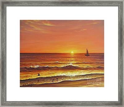 Ocean Of Fire Framed Print