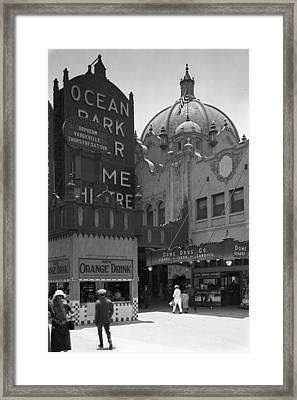 Ocean Park Pier 1920 Framed Print
