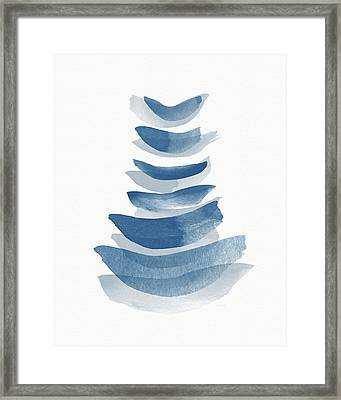 Framed Print featuring the mixed media Ocean Zen 2 - Art By Linda Woods by Linda Woods