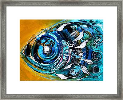 Ochre Fish Four Framed Print