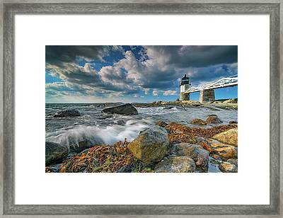 Framed Print featuring the photograph October Morning At Marshall Point by Rick Berk