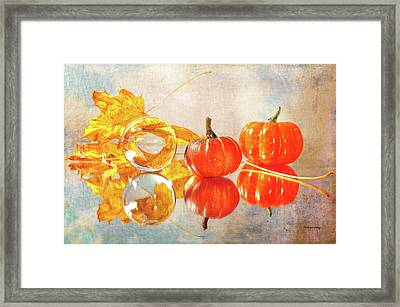 Framed Print featuring the photograph October Reflections by Randi Grace Nilsberg