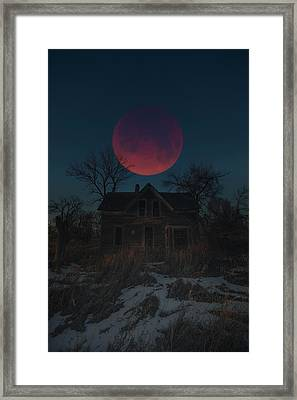 Framed Print featuring the photograph Of Wolf And Man  by Aaron J Groen