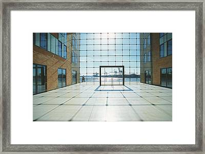 Office Building At Holzhafen 45, Grosse Framed Print by Uwe Steffens