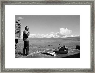 Framed Print featuring the photograph Office Of The Poet by Carl Young