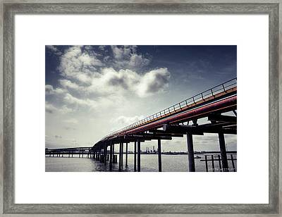 Oil Bridge Framed Print