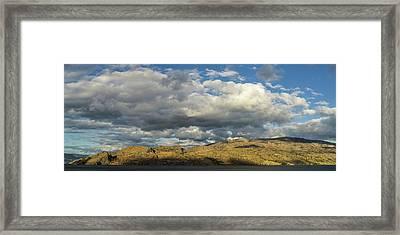 Okanagan Mountain Panorama Framed Print