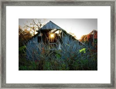 Old Barn At Sunset Framed Print