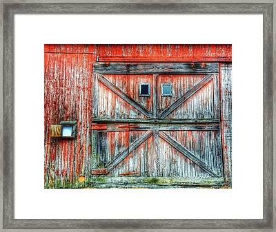 Old Barn Door Framed Print by Jenny Lauretano / Eyeem