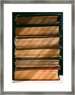 Framed Print featuring the photograph Old Books by Carl Young