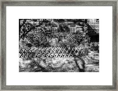 Framed Print featuring the photograph Old Farmhouse by Andreas Levi