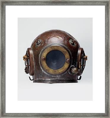 Old-fashioned, Deep Sea Divers Helmet Framed Print