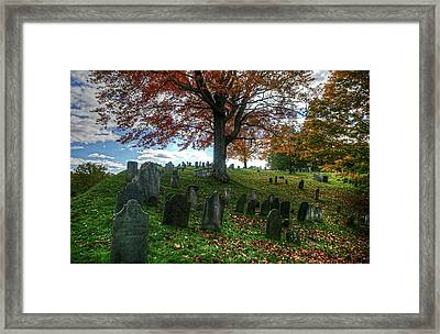 Old Hill Burying Ground In Autumn Framed Print
