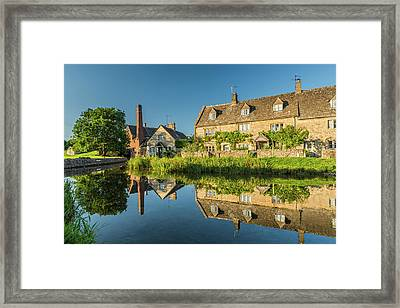 Old Mill, Lower Slaughter, Gloucestershire Framed Print by David Ross