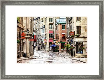 Old Montreal Street Scene 2010 Framed Print