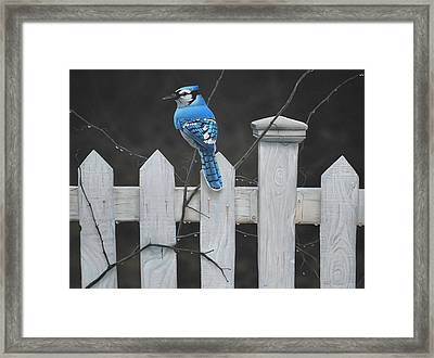Framed Print featuring the painting Old Picket Fence by Peter Mathios