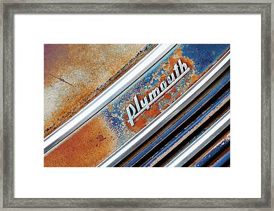 Old Plymouth Logo Framed Print