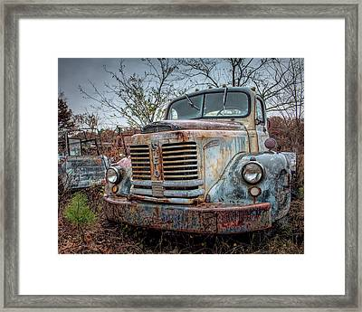 Framed Print featuring the photograph Old Reo Gold Comet by Kristia Adams