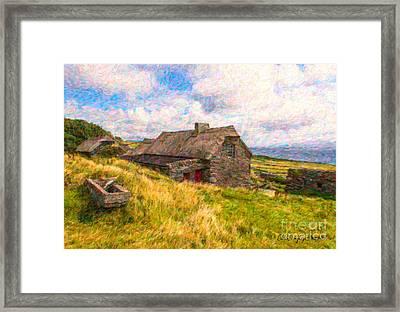 Old Scottish Farmhouse Framed Print