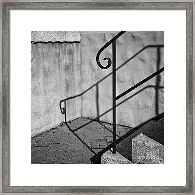 Framed Print featuring the photograph Old Steps by Patrick M Lynch