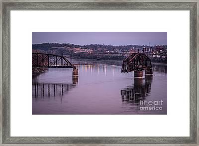 Old Swing Bridge Framed Print