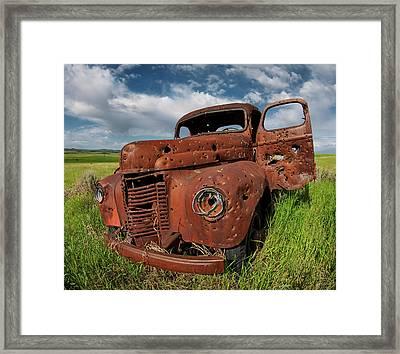 Old Truck Framed Print by Leland D Howard