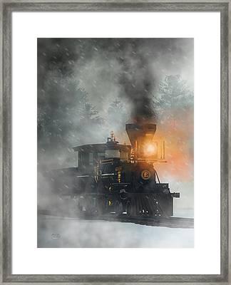 Framed Print featuring the digital art Old West Steam Train  by Daniel Eskridge