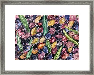 Olives Ready For Pressing Framed Print