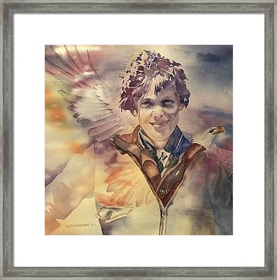 On Eagles Wings Framed Print