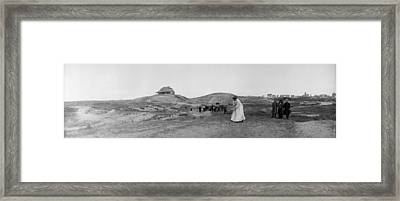 On Golf Links Framed Print by Alfred Hind Robinson