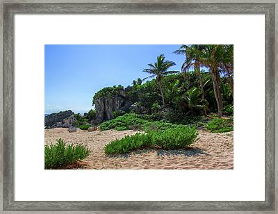 On The Coast Of Tulum Framed Print