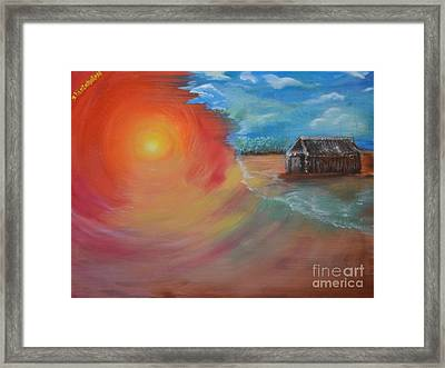 Framed Print featuring the painting On The Edge by Sabine ShintaraRose