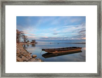 On The Shore Of The Lake Framed Print