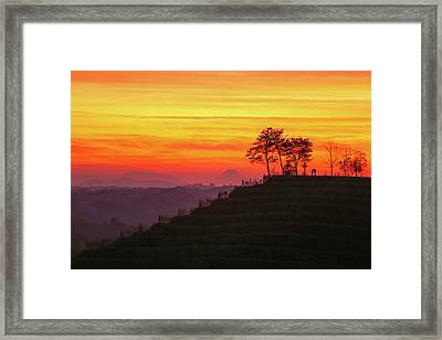 On The Viewpoint Framed Print
