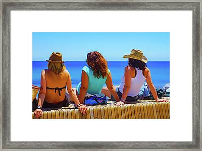 On The Wall Framed Print by Digby Merry