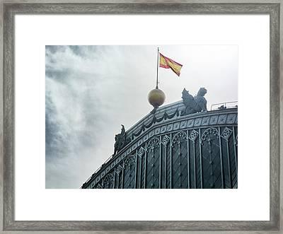 On Top Of The Puerta De Atocha Railway Station Framed Print