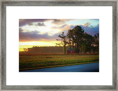 Framed Print featuring the photograph Onc Open Road Sunrise by Cindy Lark Hartman
