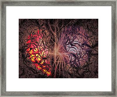 Framed Print featuring the digital art One Sided Love by Bill Posner
