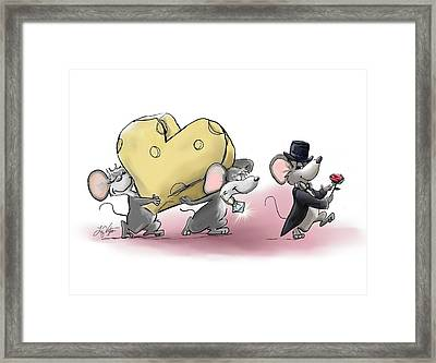 Only The Best Cheese Will Do Framed Print