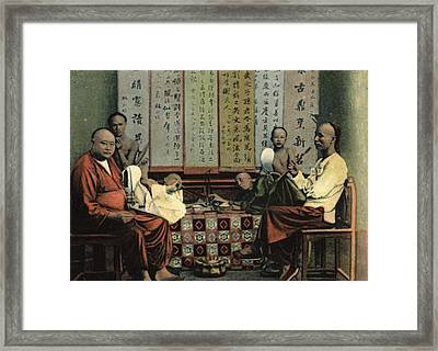 Opium Den Framed Print by Hulton Archive