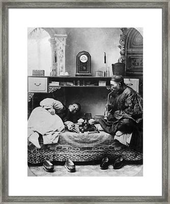 Opium Smokers Framed Print by Hulton Archive